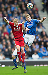 St Johnstone v Aberdeen...13.04.14    William Hill Scottish Cup Semi-Final, Ibrox<br /> Barry Robson and David Wotherspoon<br /> Picture by Graeme Hart.<br /> Copyright Perthshire Picture Agency<br /> Tel: 01738 623350  Mobile: 07990 594431