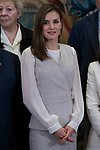 Queen Letizia attends to several audiences at Zarzuela Palace in Madrid, May 12, 2017. Spain.<br /> (ALTERPHOTOS/BorjaB.Hojas)