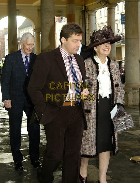 SHEILA DWIGHT.Sir Elton John & David Furnish - civil partnership ceremony (wedding) at Guidhall, Windsor, Berkshire, England..December 21st, 2005.Ref: IA.full length Elton John's mother hat.www.capitalpictures.com.sales@capitalpictures.com.©Capital Pictures