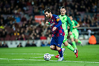30th January 2020; Camp Nou, Barcelona, Catalonia, Spain; Copa Del Rey Football, Barcelona versus Leganes; Lionel Messi of FC Barcelona breaks past his marker