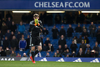 Goalkeeper Nathan Baxter of Chelsea misses his penalty during the The Checkatrade Trophy match between Chelsea U23 and Oxford United at Stamford Bridge, London, England on 8 November 2016. Photo by Andy Rowland.