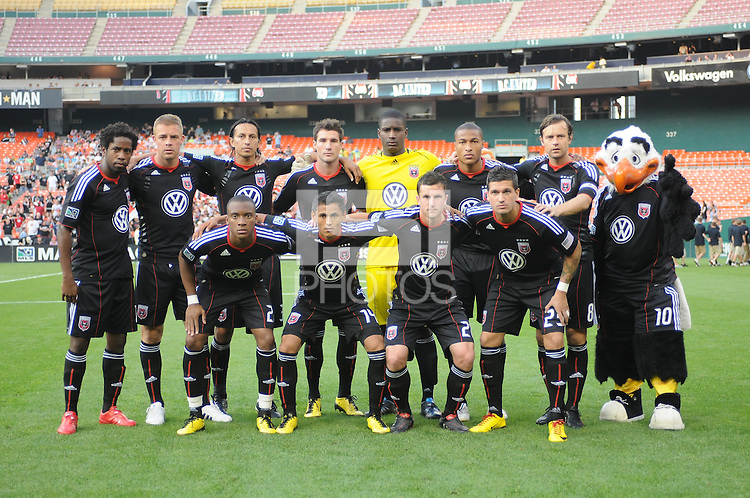 DC United team photo.  DC United defeated Chivas USA 3-2 at RFK Stadium, Saturday May 29, 2010.