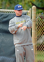 Florida International University Head Coach Jake Schumann during the game against the University of Illinois.  FIU won the game 8-0 on February 12, 2012 at Miami, Florida. .