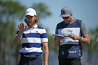 Tommy Fleetwood (ENG) and caddy Ian Finnis during round 3 of the Honda Classic, PGA National, Palm Beach Gardens, West Palm Beach, Florida, USA. 29/02/2020.<br /> Picture: Golffile | Scott Halleran<br /> <br /> <br /> All photo usage must carry mandatory copyright credit (© Golffile | Scott Halleran)