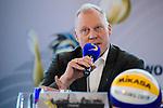24.01.2018, Hamburg, Penthouse Elb-Panorama / Atlantic Haus<br />Beachvolleyball, Pressekonferenz FIVB World Championships / Weltmeisterschaft<br /><br />Frank Mackerodt (Promoter)<br /><br />  Foto © nordphoto / Kurth