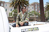 SAN FRANCISCO - JULY 10:  Brian Roberts of the Baltimore Orioles rides in the All Star Game Red Carpet Show before the All Star Game against the National League at AT&T Park in San Francisco, California on July 10, 2007.  Photo by Brad Mangin