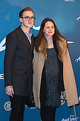 London, UK. 19 January 2016. Tom Fletcher with his pregant wife Giovanna Fletcher. Celebrities arrive on the red carpet for the London premiere of Amaluna, the latest show of Cirque du Soleil, at the Royal Albert Hall.