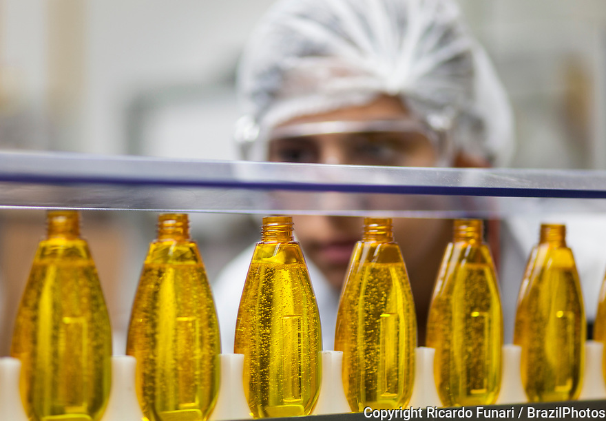 Multinational cosmetics company headquartered in France L`Oreal plant in Rio de Janeiro, Brazil - Production line.