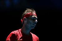 8th January 2020; RAC Arena, Perth, Western Australia; ATP Cup Australia, Perth, Day 6; Spain versus Japan; Rafael Nadal of Spain during his match against Yoshihito Nishioka of Japan - Editorial Use