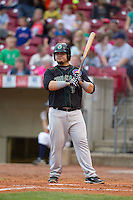 Kane County Cougars first baseman Dan Vogelbach #3 bats during a game against the Cedar Rapids Kernels at Veterans Memorial Stadium on June 8, 2013 in Cedar Rapids, Iowa. (Brace Hemmelgarn/Four Seam Images)
