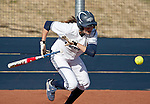 March 23, 2012:   Nevada Wolf Pack's Chelsea Barilli lays down a bunt against the Fresno State Bulldogs during their NCAA softball game played at Christina M. Hixson Softball Park on Friday in Reno, Nevada.