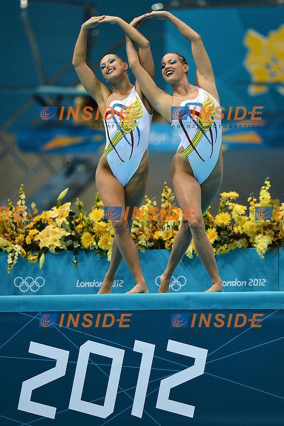 USA Mary Killman, Mariya Koroleva Synchronized Swimming Duets Free Routine Final.London 7/8/2012 Aquatics Center.London 2012 Olympic games - Olimpiadi Londra 2012.Synchronized Swimming - Nuoto Sincronizzato.Foto Andrea Staccioli Insidefoto