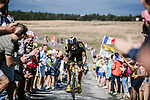 Jerome Cousin (FRA) Direct Energie part of the breakaway group climbs during Stage 15 of the 2018 Tour de France running 181.5km from Millau to Carcassonne, France. 22nd July 2018. <br /> Picture: ASO/Pauline Ballet | Cyclefile<br /> All photos usage must carry mandatory copyright credit (&copy; Cyclefile | ASO/Pauline Ballet)