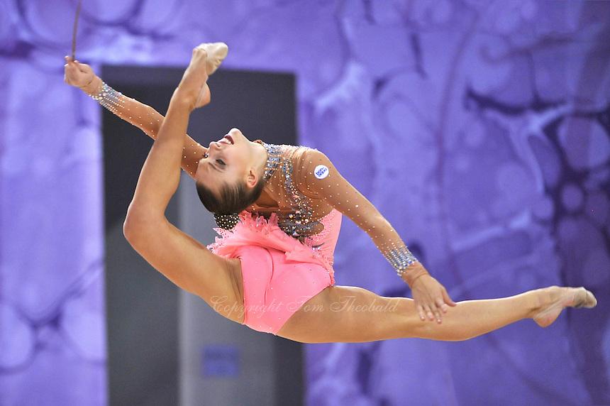 September 24, 2014 - Izmir, Turkey -  MELITINA STANIOUTA of Belarus performs at 2014 World Championships.