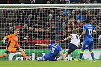 Harry Kane of Tottenham scores the second goal during Tottenham Hotspur vs AFC Wimbledon, Emirates FA Cup Football at Wembley Stadium on 7th January 2018