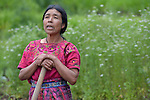 Maria Valentina Lopez speaks during a workshop at an eco-agricultural training center in Comitancillo, Guatemala. The center is sponsored by the Maya Mam Association for Investigation and Development (AMMID).