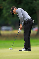 Oscar Lengden (SWE) on the 10th green during Round 4 of the Bridgestone Challenge 2017 at the Luton Hoo Hotel Golf &amp; Spa, Luton, Bedfordshire, England. 10/09/2017<br /> Picture: Golffile | Thos Caffrey<br /> <br /> <br /> All photo usage must carry mandatory copyright credit     (&copy; Golffile | Thos Caffrey)