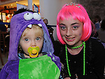 Matthew Clarke and Rachel Smith pictured at the Halloween party in Scotch Hall. Photo:Colin Bell/pressphotos.ie