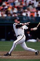 SAN FRANCISCO, CA:  Matt Williams of the San Francisco Giants bats during a game at Candlestick Park in San Francisco, California on May 14, 1994. (Photo by Brad Mangin)