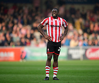 Lincoln City's John Akinde at the end of the game<br /> <br /> Photographer Chris Vaughan/CameraSport<br /> <br /> The EFL Sky Bet League Two - Lincoln City v Macclesfield Town - Saturday 30th March 2019 - Sincil Bank - Lincoln<br /> <br /> World Copyright © 2019 CameraSport. All rights reserved. 43 Linden Ave. Countesthorpe. Leicester. England. LE8 5PG - Tel: +44 (0) 116 277 4147 - admin@camerasport.com - www.camerasport.com