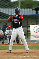 Leonardo Molina plays in the 2013 Dominican Prospect League showcase at the Yankees academy in Boca Chica, Dominican Republic on January 19, 2013.