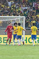 BELO HORIZONTE, MG, 26 JUNHO 2013 - COPA DAS CONFEDERACOES -  BRASIL X URUGUAI -  jogador da Seleção Brasileira em lance durante partida contra o Uruguai, jogo válido pelas Semi-finais da competição, no Estadio Mineirao em Belo Horizonte, Minas Gerais nesta Quarta, 26 (FOTO: NEREU JR / BRAZIL PHOTO PRESS).