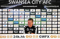 Pictured: Swansea manager Garry Monk. Friday 08 May 2015<br />