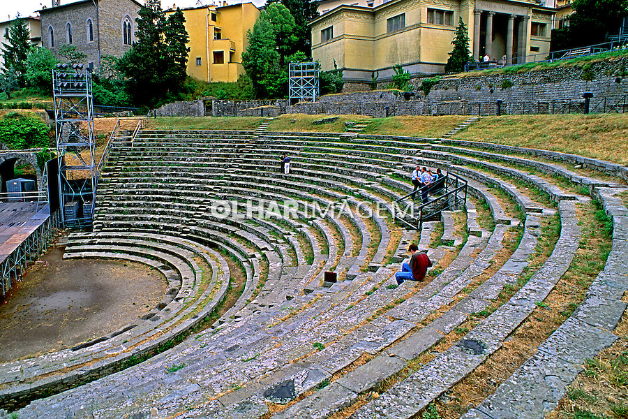 Anfiteatro romano em Fiesole, Itália. 1998. Foto de Juca Martins.