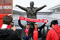Fans pose for photos outside Anfield ahead of kick-off<br /> <br /> Photographer Rich Linley/CameraSport<br /> <br /> UEFA Champions League Semi-Final 2nd Leg - Liverpool v Barcelona - Tuesday May 7th 2019 - Anfield - Liverpool<br />  <br /> World Copyright &copy; 2018 CameraSport. All rights reserved. 43 Linden Ave. Countesthorpe. Leicester. England. LE8 5PG - Tel: +44 (0) 116 277 4147 - admin@camerasport.com - www.camerasport.com