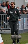 03.11.2019, Brita-Arena, Wiesbaden, GER, 2.FBL, Wehen-Wiesbaden vs Hamburger SV<br /> , <br />DFL  regulations prohibit any use of photographs as image sequences and/or quasi-video.<br />im Bild<br />Trainer Rüdiger Rehm (Wehen-Wiesbaden) freut sich über das Unendschieden seiner Mannschaft.<br /> <br /> Foto © nordphoto / Bratic