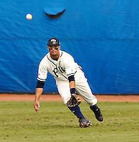 Florida International University Golden Panthers versus the .Missouri Tigers at University Park Stadium, Miami, Florida on Sunday, February 11, 2007.  The Tigers defeated the Golden Panthers, 3-2...Senior outfielder Chris Dunn (2)