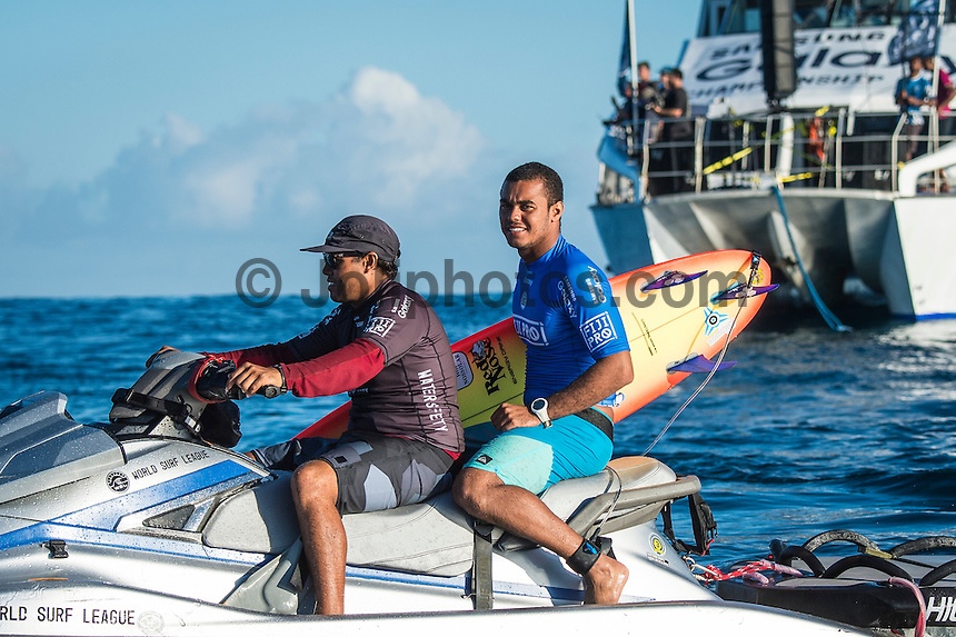 Namotu Island Resort, Nadi, Fiji (Thursday, June 16 2016):   Wiggolly Dantas (BRA) - The Fiji Pro, stop No. 5 of 11 on the 2016 WSL Championship Tour, was recommenced today at Cloudbreak with a consistent SSW swell in the 6'-8' range. <br /> Rounds 4 and 5 were completed in perfect conditions with a number of rides in the excellent range including two perfect 10 point rides form Gabriel Medina (BRA) and Kelly Slater (USA).<br /> The contest will wrap up tomorrow in what is shaping up as another perfect surf day.<br /> Photo: joliphotos.com