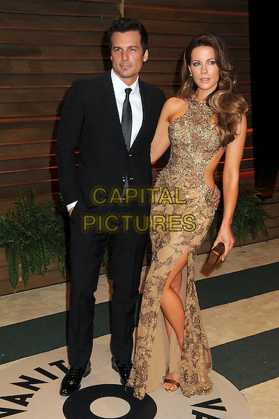 02 March 2014 - West Hollywood, California - Len Wiseman, Kate Beckinsale. 2014 Vanity Fair Oscar Party following the 86th Academy Awards held at Sunset Plaza.  <br /> CAP/ADM/BP<br /> &copy;Byron Purvis/AdMedia/Capital Pictures