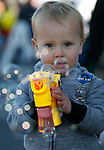 Mason Gallagher, 2, blows bubbles before the start of the Nevada Day parade in Carson City, Nev., on Saturday, Oct. 26, 2019.  <br /> Photo by Cathleen Allison/Nevada Momentum