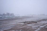 Snow Storm at Woodbine Beach Toronto Ontario Canada North America