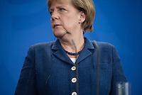 Berlin, 20130508CB023, Bundeskanzlerin Angela Merkel (CDU) am Mittwoch (08.05.13) im Bundeskanzleramt in Berlin bei einer Pressebegegnung mit dem Staatspräsidenten der Republik Niger, Mahamadou Issoufou (nicht im Bild).