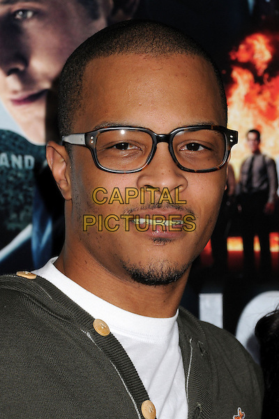"T.I., Tip Harris, Clifford Joseph Harris Jr..""Gangster Squad"" Los Angeles Premiere held at Grauman's Chinese Theatre, Hollywood, California, USA..January 7th, 2013.headshot portrait white green glasses   goatee facial hair.CAP/ADM/BP.©Byron Purvis/AdMedia/Capital Pictures."