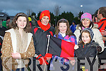 Glenbeigh/Glencar fans celebrate after their team defeated Laune Rangers in the Mid Kerry Championship final in Beaufort on Sunday Chloe Cahill, Veronica Sugrue, Ailbhe, Rosemarie and Roisin Griffin....