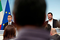 Luigi Di Maio, Matteo Salvini<br /> Roma 20/10/2018. Consiglio dei Ministri sulla Manovra Economica DEF.<br /> Rome October 20th 2018. Minister's Cabinet about the Economic and Financial Document.<br /> Foto Samantha Zucchi Insidefoto