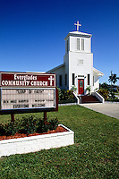 Famous Old Everglades Community Church in Everglades City, Florida