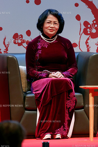 Vice President of Vietnam Dang Thi Ngoc Thinh attends the 2017 Global Summit of Women on May 11, 2017, Tokyo, Japan. The annual Global Summit of Women is being held in Tokyo for the first time with the objective of empowering Japanese women through the speeches of female leaders' from both the private and public sectors. The event is organized by the Washington-based NPO Globe Women and runs until May 13. (Photo by Rodrigo Reyes Marin/AFLO)