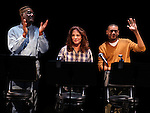 Delroy Lindo, Stockard Channing & JD Williams during the Curtain Call for the 10th Anniversary Production of 'The Exonerated' at the Culture Project in New York City on 9/19/2012.