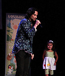 Constantine Maroulis (with his partner Angel and daughter Malena James, Bold and The Beautiful - American Idol) (he sang This is the Moment) at Loukoumi & Friends Concert held on June 23, 2014 at the Scholastic Theatre, New York City, New York.  Proceeds will benefit The Loukoumi Make a Difference Foundation. Foundation first project will be the Make A Difference with Loukoumi television special airing on FOX stations Oct 19-20. (Photo by Sue Coflin/Max Photos)