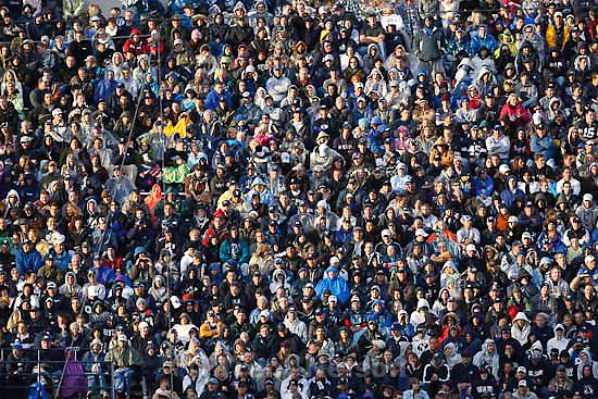 fans. BYU vs. TCU college football Saturday, October 24 2009 in Provo.