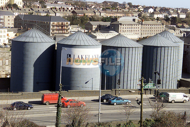 The silos at Lakeland Dairies..Picture: Paul Mohan/Newsfile
