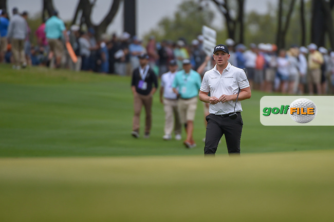 Matthew Wallace (ENG) approaches the green on 1 during day 3 of the WGC Dell Match Play, at the Austin Country Club, Austin, Texas, USA. 3/29/2019.<br /> Picture: Golffile | Ken Murray<br /> <br /> <br /> All photo usage must carry mandatory copyright credit (© Golffile | Ken Murray)