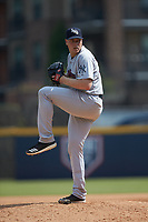 Scranton/Wilkes-Barre RailRiders relief pitcher Kaleb Ort (37) in action against the Gwinnett Stripers at Coolray Field on August 18, 2019 in Lawrenceville, Georgia. The RailRiders defeated the Stripers 9-3. (Brian Westerholt/Four Seam Images)