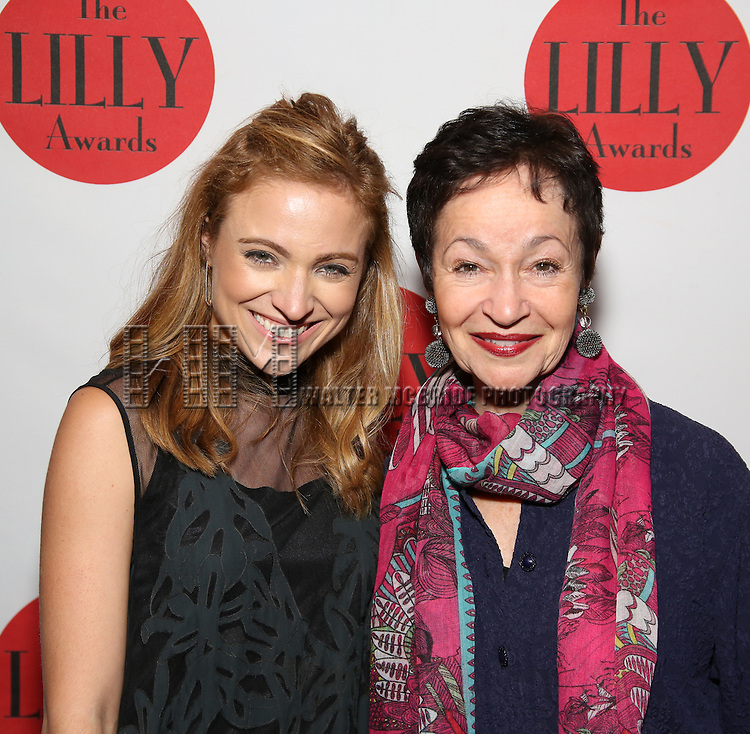 hristy Altomare and Lynn Aherns attends The Lilly Awards Broadway Cabaret at the Cutting Room on October 17, 2016 in New York City.