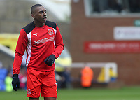 Fleetwood Town's Amari'i Bell during the pre-match warm-up <br /> <br /> Photographer David Shipman/CameraSport<br /> <br /> The EFL Sky Bet League One - Peterborough United v Fleetwood Town - Friday 14th April 2016 - ABAX Stadium  - Peterborough<br /> <br /> World Copyright &copy; 2017 CameraSport. All rights reserved. 43 Linden Ave. Countesthorpe. Leicester. England. LE8 5PG - Tel: +44 (0) 116 277 4147 - admin@camerasport.com - www.camerasport.com