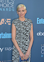 Michelle Williams at the 22nd Annual Critics' Choice Awards at Barker Hangar, Santa Monica Airport. <br /> December 11, 2016<br /> Picture: Paul Smith/Featureflash/SilverHub 0208 004 5359/ 07711 972644 Editors@silverhubmedia.com